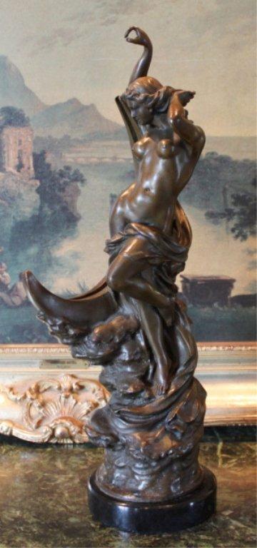 Mythological Greek Goddess Selene Bronze Sculpture