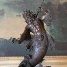 Mythological Poseidon, Greek God of the Sea Bronze Sculpture