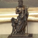 Mythological Greek God Hades & Cerebus of the Underworld Bronze Sculpture