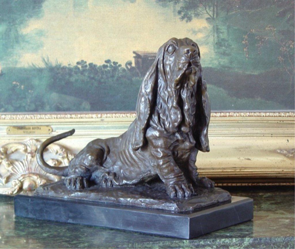 Bassett Hound Bronze Sculpture