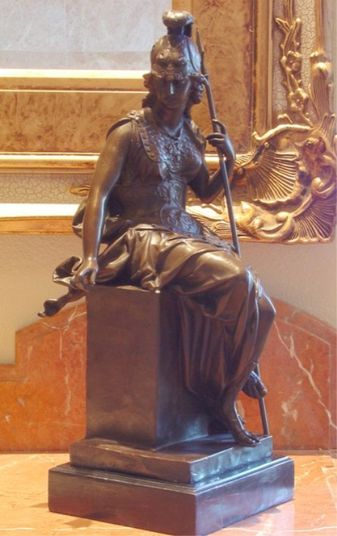 Enyo Greek Goddess of War Bronze Sculpture