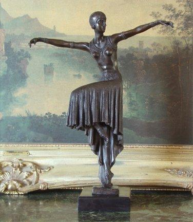 Dancer of the Art Deco Era  Bronze Sculpture