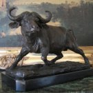 Large African Cape Water Buffalo Bronze Sculpture