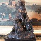 Wildlife Mother Bear and Cubs Bronze Sculpture