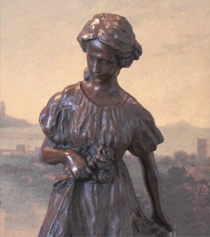 Young Victorian Bride Bronze Sculpture