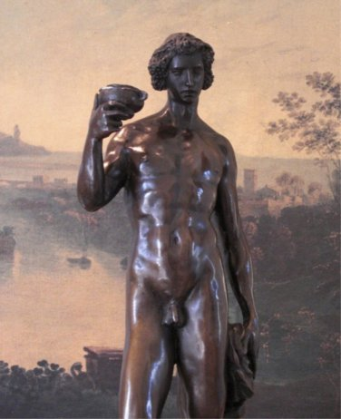 Nude Dionysus Greek God of Wine Bronze Sculpture