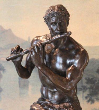 Large Mythological Greek Satyr Bronze Sculpture