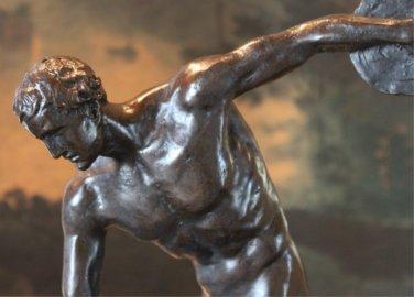 Nude Discobolus of Myron Bronze Sculpture