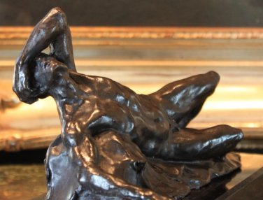Reclining Male Nude Bronze Sculpture