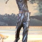 Golf Pro Swinging Bronze Sculpture