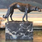 Gorgeous Russian Wolfhound Borzoi Bronze Sculpture