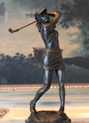LPGA Lady Golfer Swinging Bronze Sculpture