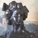 Large Victorian Lady Bronze Bust Sculpture