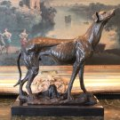 Graceful Greyhound Bronze Sculpture