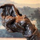 Sensual Draped Reclining Woman Bronze Sculpture