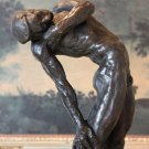 Erotic Reclining Nude Male Bronze Sculpture