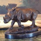 Wildlife Rhinoceros / Rhino Bronze Sculpture