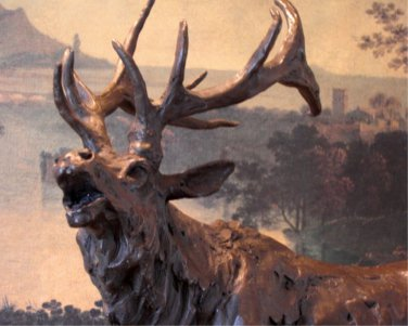 Large Roaring Elk Bronze Sculpture