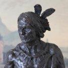 Native American Indian Bronze Sculpture