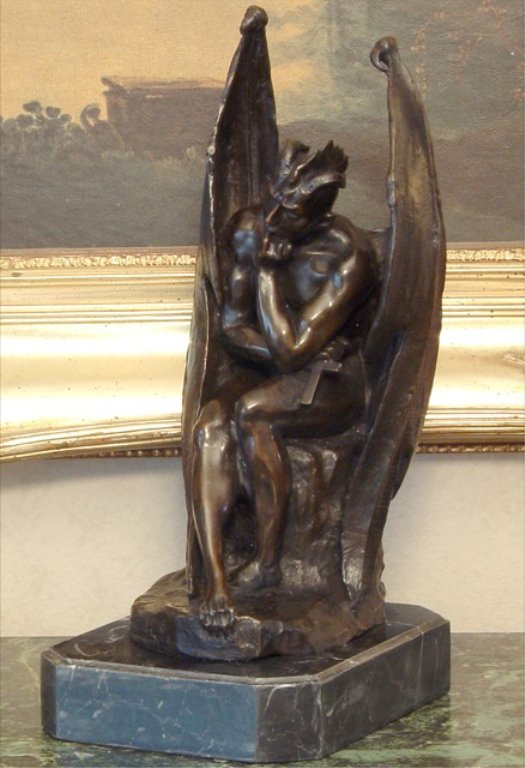 Gargoyle Beast Lucifer Bronze Sculpture