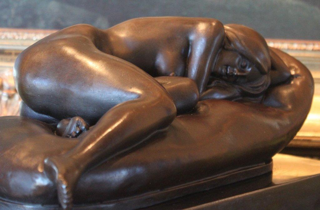 Nude Sleeping Woman Bronze Sculpture