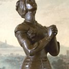 Roman Catholic Saint, Praying Joan of Arc Bronze Sculpture
