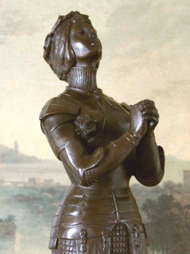 Roman Catholic Saint, Praying Joan of Arc Bronze Sculpture