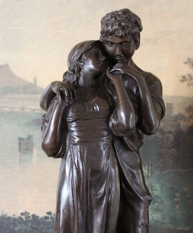Young Lovers Romeo and Juliet Bronze Sculpture