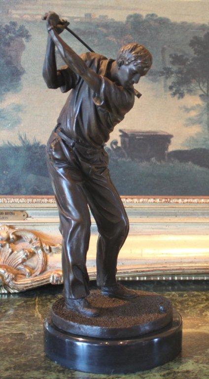 Golfer Athlete Bronze Sculpture