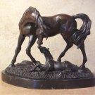 Equestrian Horse Mare Foal Bronze Sculpture