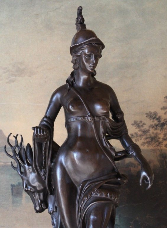 Mythological Greek Goddess Artemis Bronze Sculpture