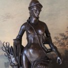Mythological Greek Goddess Artemis Bronze Sculpture