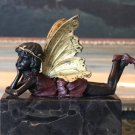 Mytholocial Fairy Hand Painted Bronze Sculpture