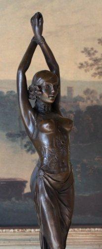 Exotic Belly Dancer Bronze Sculpture