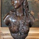 Semi-Nude Roman Goddess Bust Bronze Sculpture