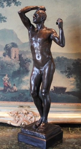 "Rodin's ""The Age of Bronze"" Bronze Sculpture"
