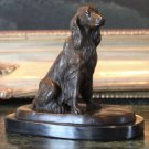 Irish, English, Gordon Setter Hunting Dog Bronze Sculpture