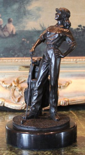 LPGA Lady Golfer Athlete Bronze Sculpture