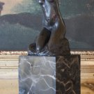Rodin's The Toilette Of Venus Kneeling Fauness Bronze Sculpture
