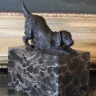 Playful Retriever Dog Bronze Sculpture