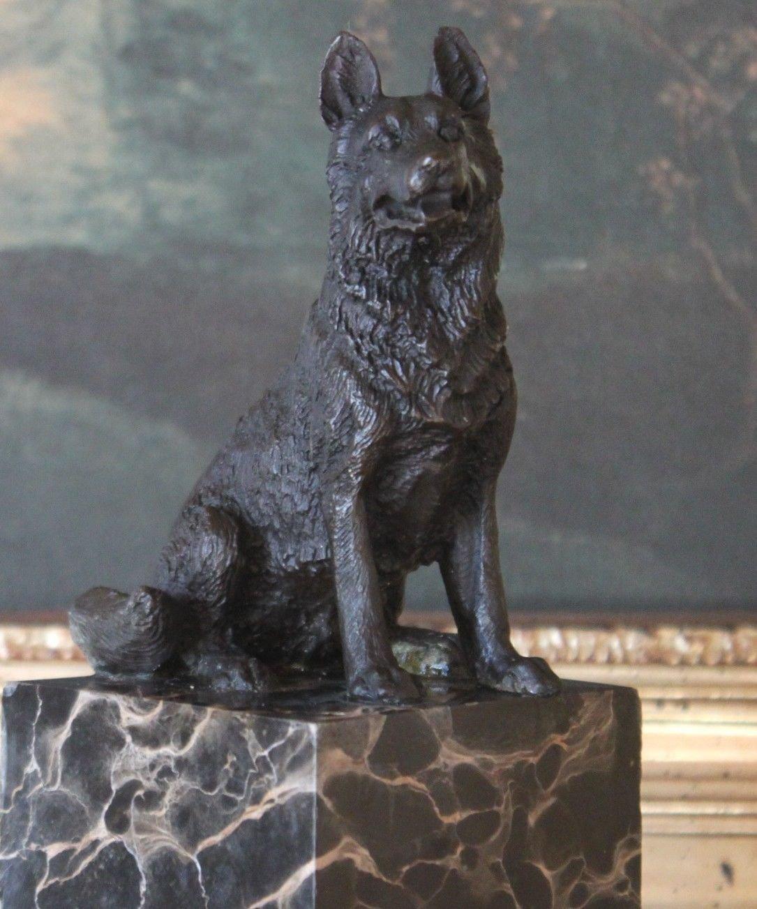 German Shepherd K9 Police Dog Bronze Sculpture