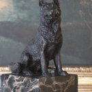 German Shepherd K9 Police Dog Bronze Sculpture