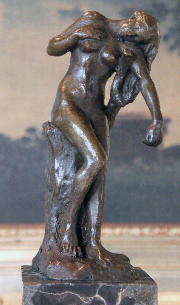 Classic Rodin Nude Woman Bronze Sculpture