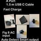 """USB C 65W LAPTOP CHARGER AC ADAPTER FOR APPLE MACBOOK AIR 13"""" 2018 A1932 & USB A"""