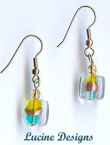 Lampwork Glass Earrings (#20010e)