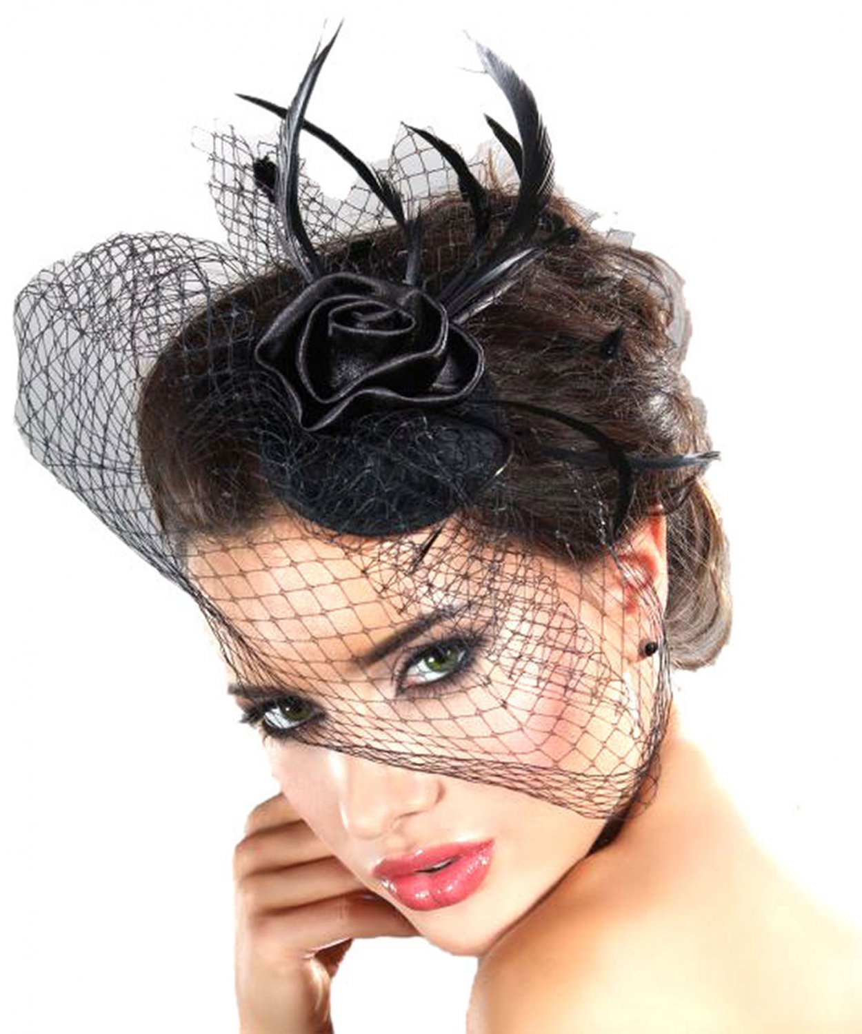 Costume Hat Mysterious LivCo Corsetti Fashion Hat ,2014 Womens Fashion Hair Clip for Party