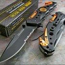 TAC-FORCE KNIFE Spring Assisted Blade EMT EMS ORANGE Rescue Folding Pocket