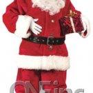 Retro! Crimson VELVET PROFESSIONAL rental parade quality Santa Claus button Suit