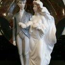 LLADRO EVERLASTING LOVE WEDDING BRIDE AND GROOM PORCELAIN  12.5 hand made spain