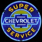 "LARGE Super Chevrolet Service - Chevy - 36"" MAN CAVE SHOP Neon Sign - Metal Can‏"
